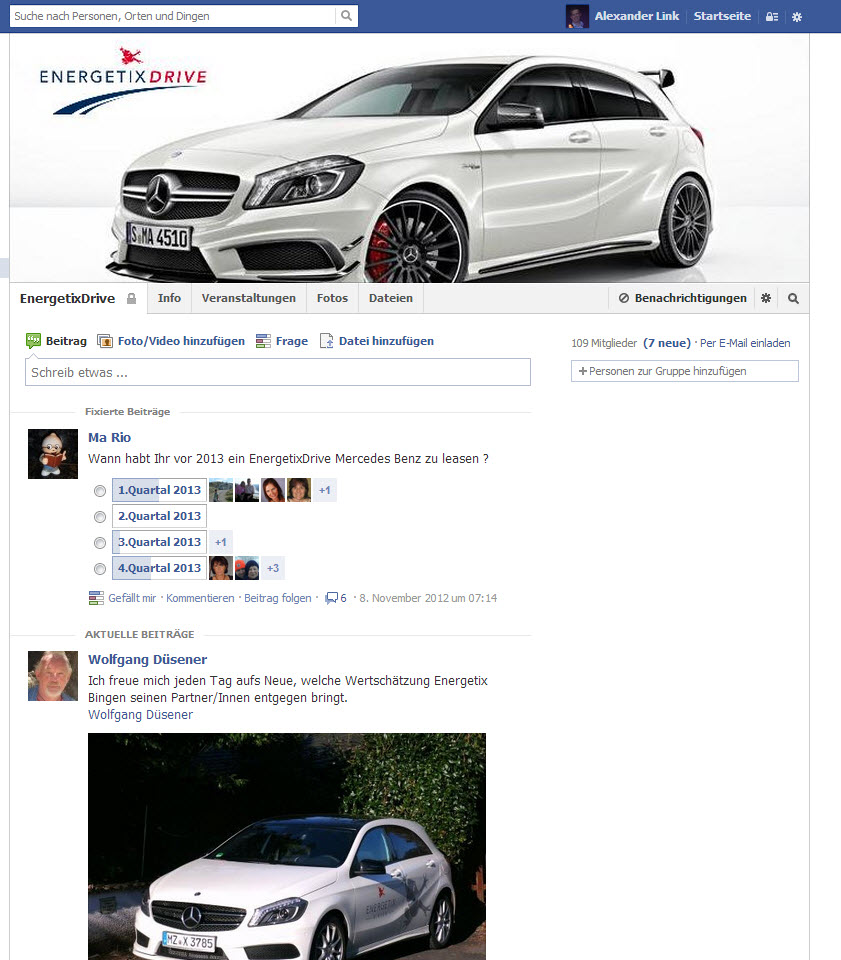 Facebook ENERGETIXDrive Screenshot